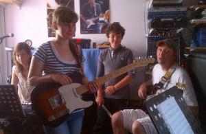 Louise, Kimberlay, Charles et Franck