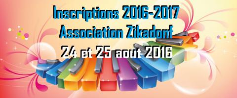 Année 2016 / 2017 à Zikadonf